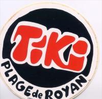 Autocollant - Tiki - Plage De Royan - Autocollants