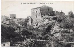 ROQUEBRUNE UN COIN DE LA VILLE EN 1918 - Roquebrune-sur-Argens