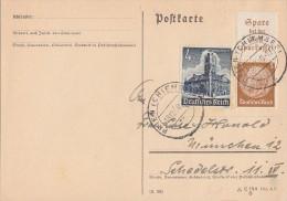 DR Karte Mif Minr.752, Zdr. Minr.S175 Prien 18.12.40 - Deutschland