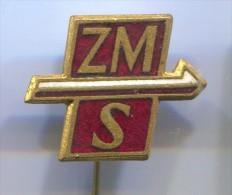 ZMS - Poland, POLISH UNION OF SOCIALIST YOUTH, vintage pin, badge, enamel