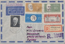DDR Luftpost R-Brief Mif Minr.784A,795-798 Auerbach Retour Ansehen !!!!!!!!!!!! - Briefe U. Dokumente