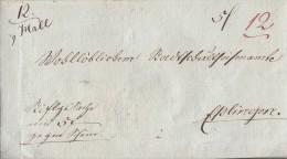 Brief Hall Nach Esslingen Von 1845 Doppelverwendung Ansehen !!!!!!!!!!!!!!! - Deutschland