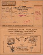 CARNET DE RELEVES DE CONSOMATION DE GAZ DE MR FLAGEUL 20 RUE DES TOURNELLES ,VERSAILLES ,A VOIR !!! REF 44009 - Vecchi Documenti