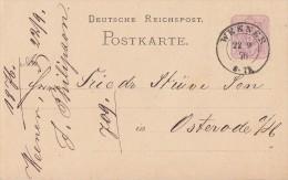 DR Ganzsache Nachv. Stempel Weener 22.9.76 - Deutschland