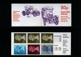 GREAT BRITAIN - 50 P.  BOOKLET  MORRIS  11 1/2  P.  LB  MINT NH  SG  FB  15b - Libretti