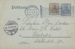 DR Ganzsache Flaggenstempel Hamburg 23.11.06 Klarer Stempel - Briefe U. Dokumente