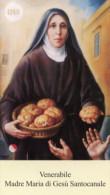 Santino VENERABILE MADRE MARIA DI GESU' SANTOCANALE Con RELIQUIA (Ex-Indumentis) - PERFETTO L31 - Religione & Esoterismo