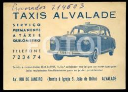 1962 POCKET CALENDAR CALENDRIER MERCEDES BENZ 220D TAXI TAXIS PONTON VOITURE CAR ALVALADE LISBOA  PORTUGAL - Calendriers