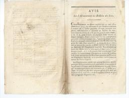Vieux Papier 1811 Avis Sur L' Abonnement Au Bulletin Des Lois - Non Classés