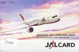 Télécarte  * JAL  (2104) Phonecard Airplane * Flugzeug Avion * AVION * AIRLINES *