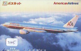 Télécarte  * AMERICAN AIRLINES  (2105) Phonecard Airplane * Flugzeug Avion * AVION * AIRLINES * - Flugzeuge