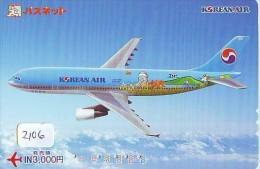 Télécarte  * KOREAN AIR  (2106) Phonecard Airplane * Flugzeug Avion * AVION * AIRLINES * - Flugzeuge