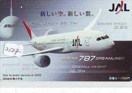 Télécarte  * JAL (2127) Phonecard Airplane * Flugzeug Avion * AVION * AIRLINES * - Avions