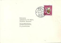 Brief  Wil St.Gallen - Flims Waldhaus             1948 - Storia Postale