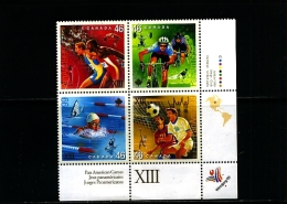 CANADA - 1999  PAN-AMERICAN  GAMES  BLOCK  MINT  NH - 1952-.... Regno Di Elizabeth II