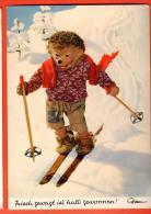 EZD-09 Mecki Fait Du Ski. Grisch Gewagt Ist Halb Gewonnen. Circulé - Mecki