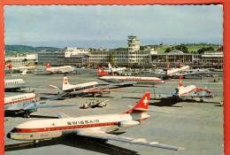EZD-16  Swissair  Flughafen Zürich. Gelaufen  Stempel Juni Festwochen 1961. - ZH Zurich