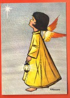 EZD-19  Ange, Illustrateur H. Amsens. Cirulé Sous Enveloppe - Anges
