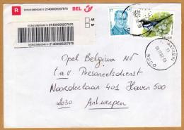 Enveloppe Cover Brief Aangetekend Registered Recommandé Lummen - Belgique