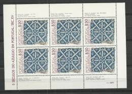 1981 MNH Portugal, Azulejos 1,  Postfris - Blocs-feuillets