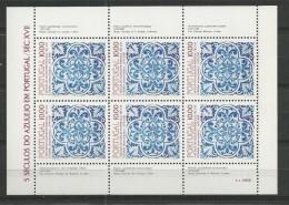 1982 MNH Portugal, Azulejos 8, Postfris - Blocs-feuillets