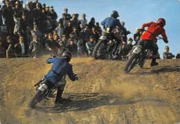 """03550  """"MOTOCROSS  - IMMAGINE DI GARA"""".  ANIMATA. CART. POST. ORIG. NON SPEDITA. - Motociclismo"""