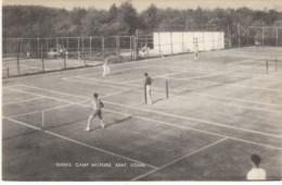 Kent Connecticut, Tennis Courts Camp Milford, C1900s Vintage Postcard - Tennis