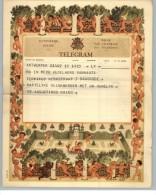 011904 LUXURY TELEGRAM # A14 (V) - BACK STAMPTED WITH RECTANGULAR TELEGRAPH CANCEL - DENDERMONDE/T 10 I 1956 T/*   * - Stamped Stationery