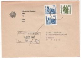 1991 DDR DS Sehenswürdigkeiten Magdeburger Dom Goethe Schiller Weimar Auf Brief  4900 Zeitz - 4720 Beckum Kirche Church - Lettres & Documents