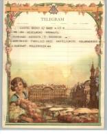 011907 LUXURY TELEGRAM # B10 (V.) - BACK STAMPTED WITH RECTANGULAR TELEGRAPH CANCEL - DENDERMONTE/T 10 I 1956 T/*   * - Stamped Stationery
