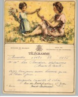 011908 LUXURY TELEGRAM # B11 F - BACK STAMPTED WITH NO RECTANGULAR TELEGRAPH CANCEL - Stamped Stationery