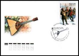 2014 Mi 2041 FDC Canc St Petersburg Russia Russland Rusland Russie Rusia Europa Musical Instruments Art 1v - Europa-CEPT