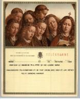 011912 LUXURY TELEGRAM # B19 (F)- BACK STAMPTED RECTANGULAR TELEGRAPH CANCEL- NAMUR/T 28 X 1958 T/ *   * - Stamped Stationery