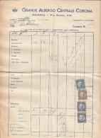 """CATANIA  /  GRANDE ALBERGO CENTRALE  """" CORONA """"  _ 1940 - Italia"""
