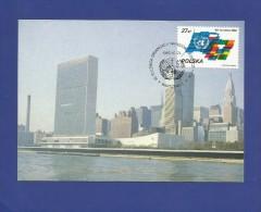 Polen / Polska  1985 , 40 Rocznica ONZ - Maximum Karte - Warszawa 1985-10-24 - Maximumkarten