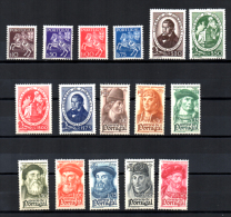 1944 Expo Phila De Lisbonne, Felix Avelar Brotero, Les Navigateurs, 647 / 662*, Cote 56 € - 1910-... Republik