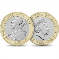 "Gran Bretaña /UNITED KINGDOM  2 Libras Pounds 2.015 2015 Bimetálica ""BRITANNIA"" SC/UNC  T-DL-11.347 - 1971-… : Monedas Decimales"