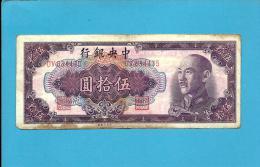 CHINA - 50 YUAN - 1948 - P  403 - Gold Chin Yuan Issue - The Central Bank - 2 Scans - China