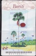 RO) 2013 BRAZIL, TREE - PALM, BURITI - PALM OF MORICHE, SOUVENIR MNH - Brazil