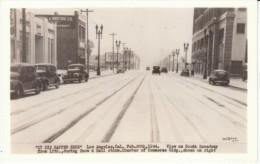 Los Angeles California, Snow Street Scene, Auto, c1940s Vintage Real Photo Postcard