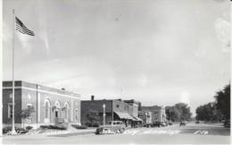 David City Nebraska, Street Scene, Auto C1940s Vintage Real Photo Postcard - United States