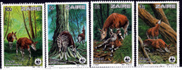 ZAIRE-1984 WWF-  OKAPI MNH SET - Endngerd Animal- Okpia Johnstoni - W.W.F.