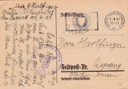 Feldpost WW2:  Reserve Lazarett In Berlin P/m Berlin-Charlottenburg 1.9.1941 - Plain Postcard (G34-8) - Militaria