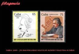 AMERICA. CUBA MINT. 2005 75 ANIVERSARIO DE LA VISITA DE ALBERT EINSTEIN A CUBA - Cuba