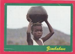 Child Carring Pot, Zimbabwe, Africa, Posted With Stamp, B. - Zimbabwe