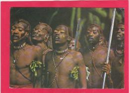 Masai Tribesmen, Kenya, East Africa, Posted With Stamp, B. - Kenya