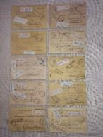 10 Postkaarten AANGETEKEND Van Tribunal Des Dommages De Guerre Resp. Van GENT (5) , MONS (2) , NIJVEL (2) En HASSELT ! - Invasion