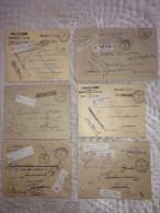 12 Brieven AANGETEKEND Van Tribunal Des Dommages De Guerre O.a. Verzonden NIJVEL (4) , ELSENE , NEUFCHATEAU En MARCHE ! - WW I