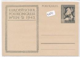 Philatélie - Autriche ( Après Anschluss) - Entier Postal  Europäischer Postkongess Wien 1942 - Entiers Postaux