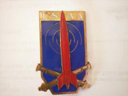 Insigne Artillerie. Ecole De Specialisation Antiaerienne. Drago Paris. G: 1654 - Armée De Terre